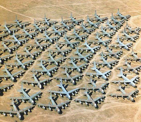 Cementerio de aviones en Google Maps