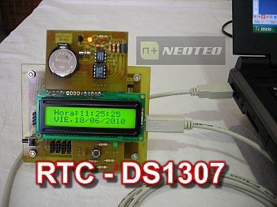 DS1307: Reloj en tiempo real con 18F2550