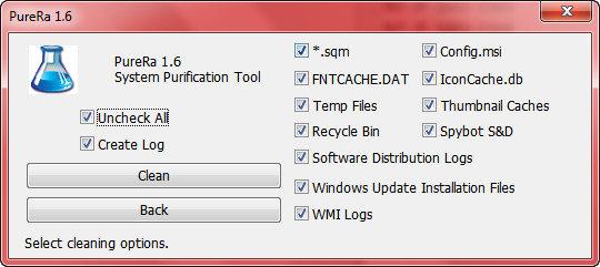 PureRa: Limpia tu disco duro