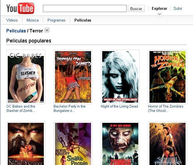 Youtube ofrece 400 películas gratis