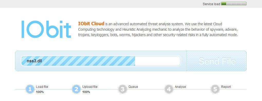 IObit Cloud: Detección de malware en línea