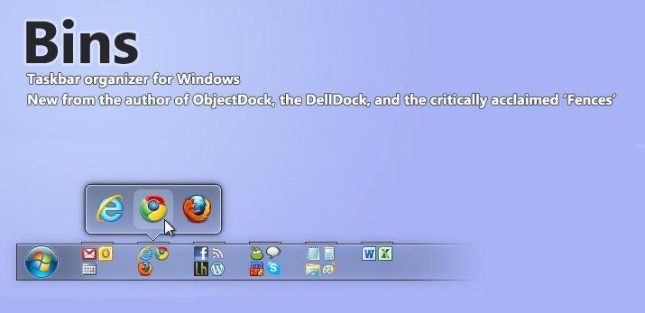Bins: Agrupa iconos en la barra de Windows 7