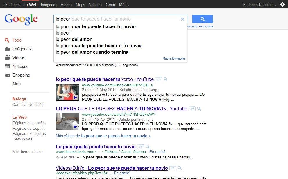 Consultas habituales en Google