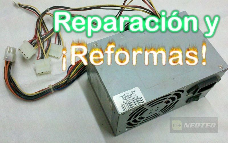 Reparación y reforma de una fuente de ordenador