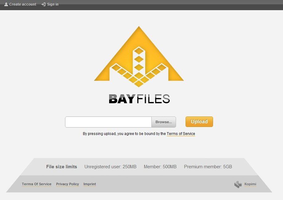 "BayFiles: Servicio de alojamiento de ""piratas"" retirados"