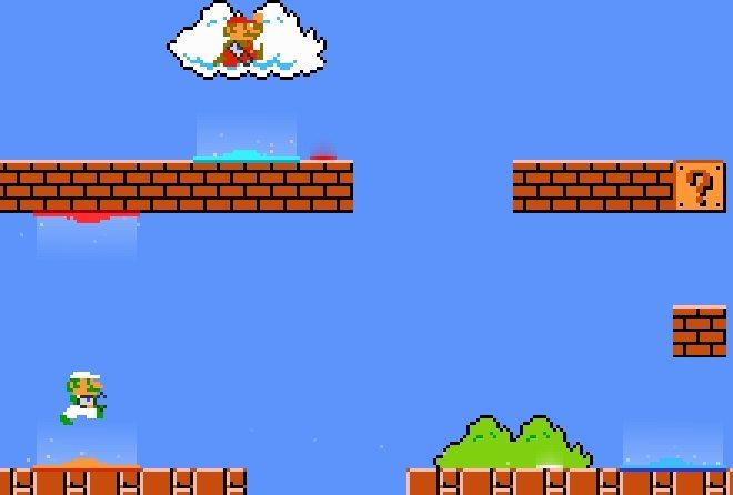Mari0: Super Mario con portales