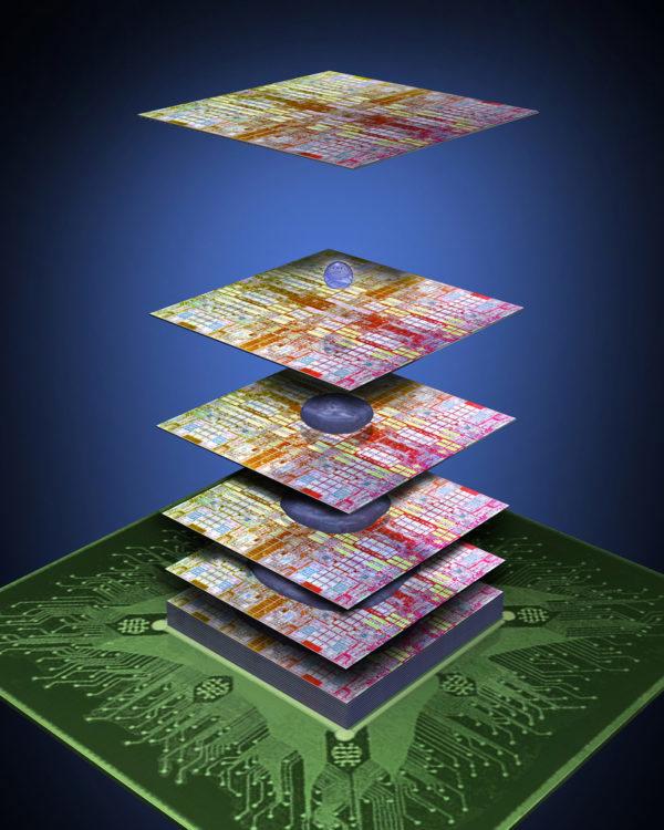 IBM y 3M desarrollarán chips tridimensionales