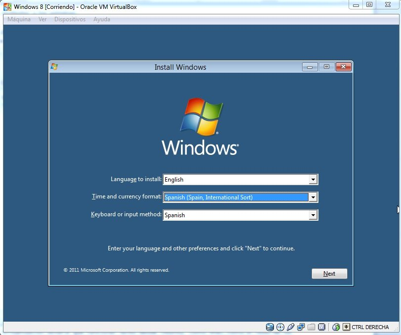 Instalar Windows 8 preview con VirtualBox (Tutorial)