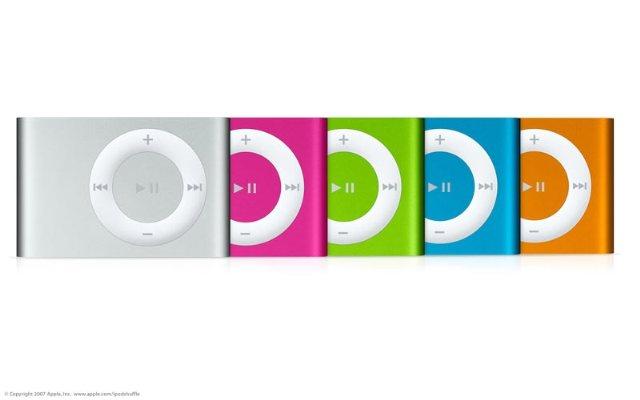 Apple: 4 nuevos colores para el iPod Shuffle