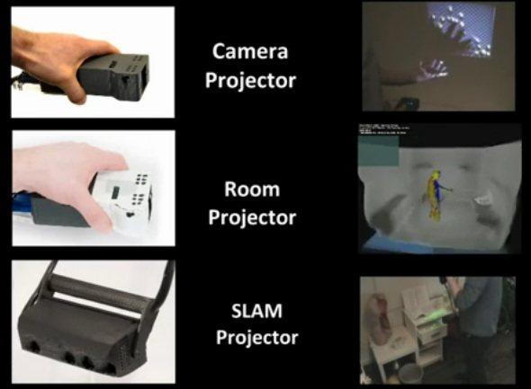 """""""Proyectores aumentados"""" basados en Kinect"""