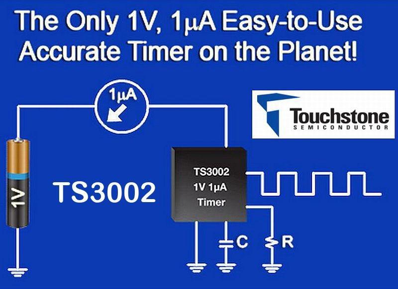 TS3002: Oscilador CMOS – 1V – 1uA – 300Khz