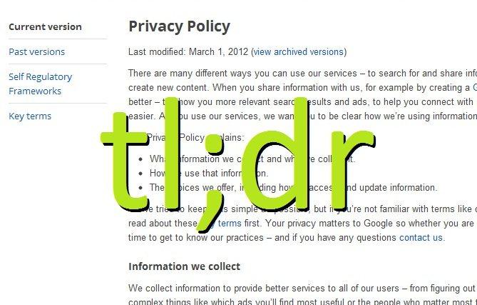 El costo de leer Políticas de Privacidad