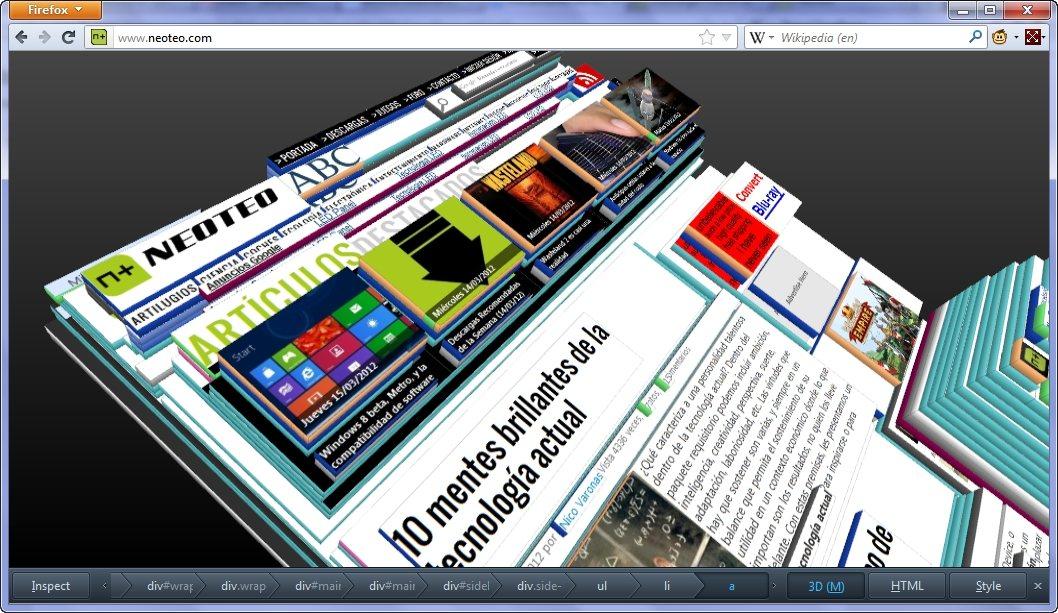 Explora el modo 3D de Firefox 11