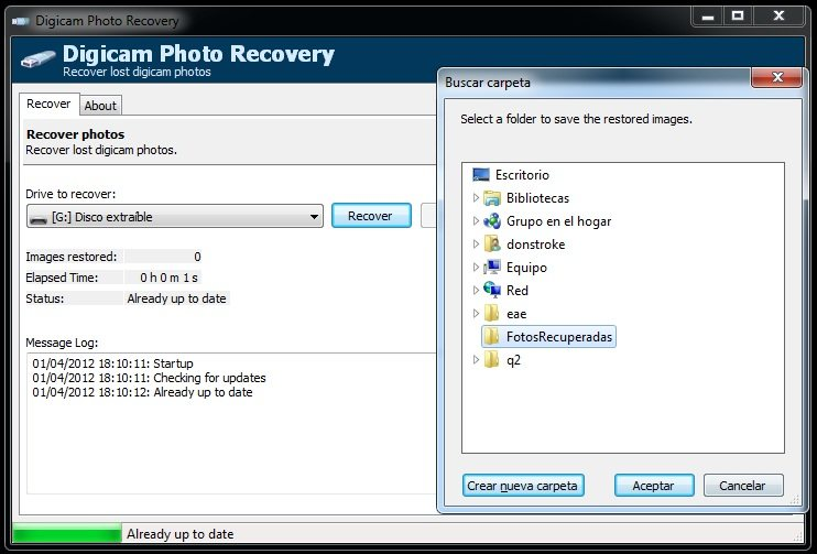 Cómo recuperar fotos borradas