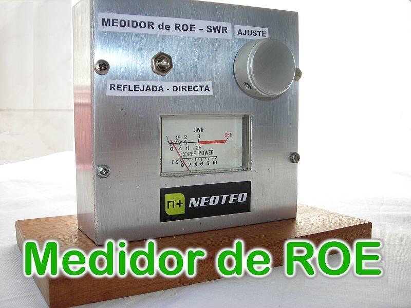 Medidor de Relación de Ondas Estacionarias (ROE) para VHF y UHF