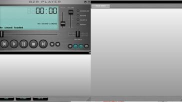 BZR Player tiene una interfaz oscura minimalista; se divide en tres módulos