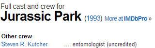 Jurassic Park y el mosquito equivocado