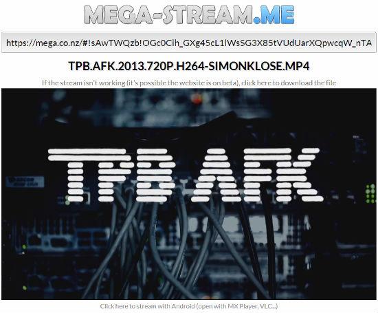 Mega-Stream.me: Un Megavideo no oficial