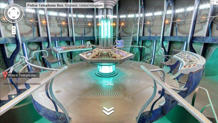 La TARDIS en su interior