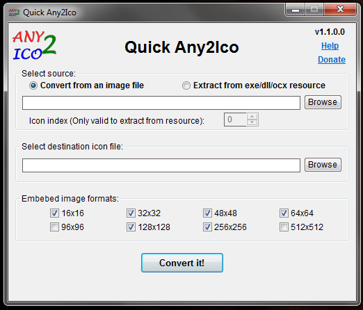No necesitamos instalar Quick Any2Ico