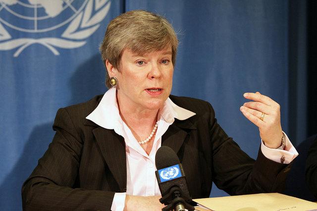 Rose Gottemoeller, secretaria de la Oficina del Departamento de Estado, protagonizó la conferencia