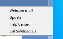 Una vez instalada la herramienta la misma se iniciará al mismo tiempo que inicias Windows