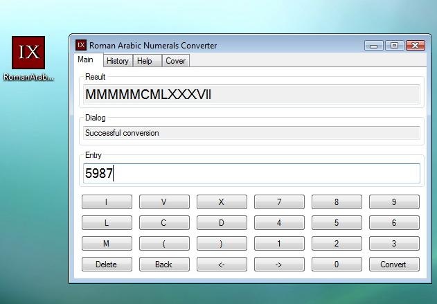 Roman Arabic Numerals Converter