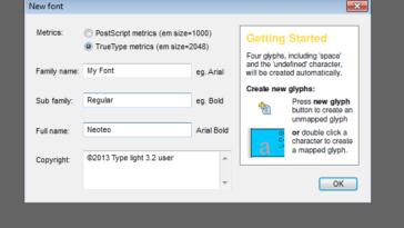 Ahora puedes seleccionar entre True Type (. Ttf) y PostScript (. Otf)