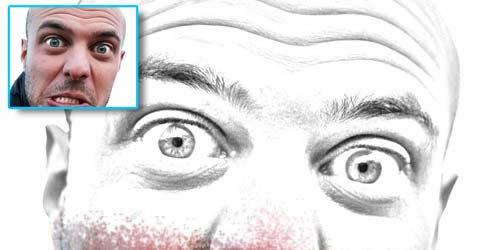 efecto lapiz de dibujo