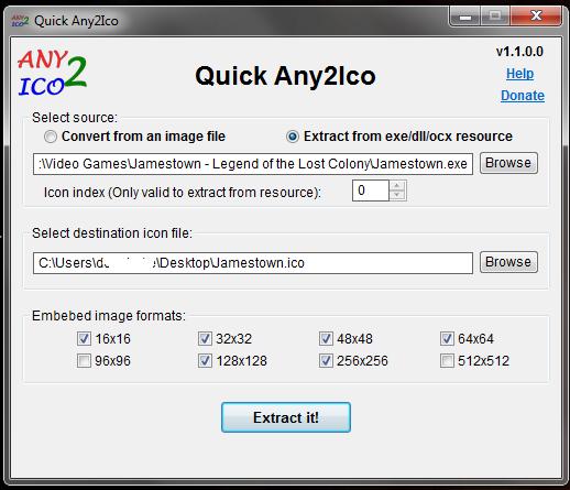 Extraer un ico de un archivo exe