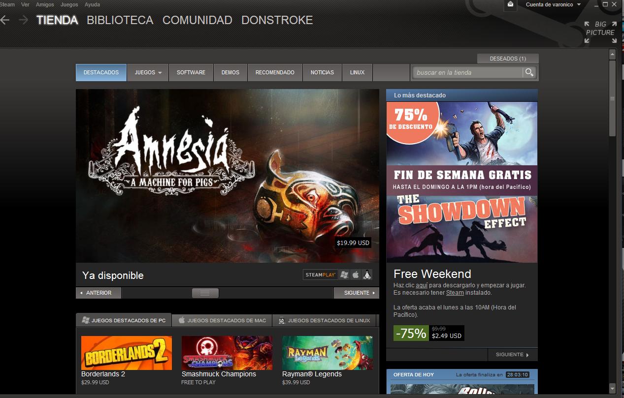 El inmenso catálogo y las ofertas son fundamentales en Steam