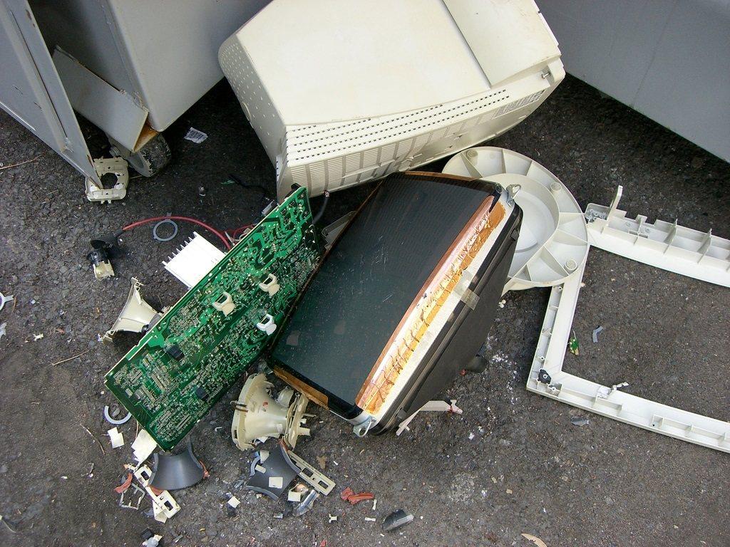 PC destrozada