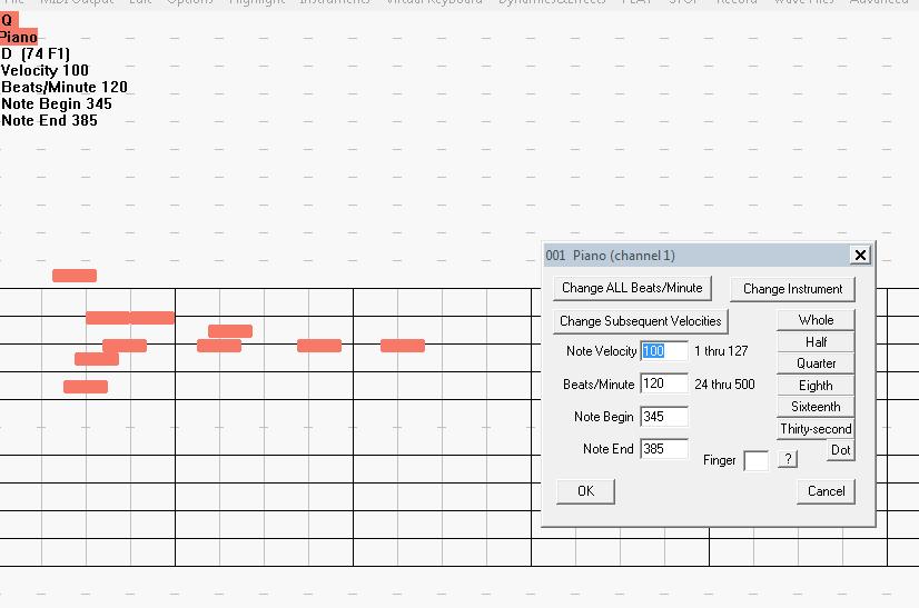 Para agregar notas simplemente pinchas sobre la línea de tiempo con el ratón