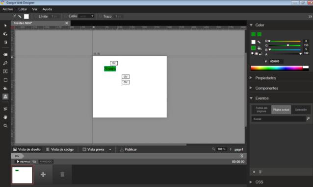 Si trabajas con cualquier herramienta de Adobe (Dreamweaver, Photoshop o After Effects) te sentirás familiarizado con la interfaz