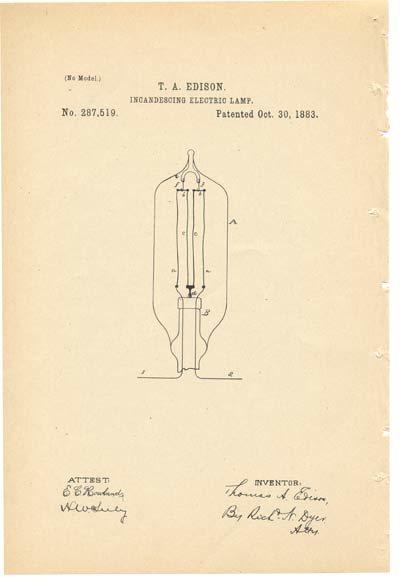 Patente Edison