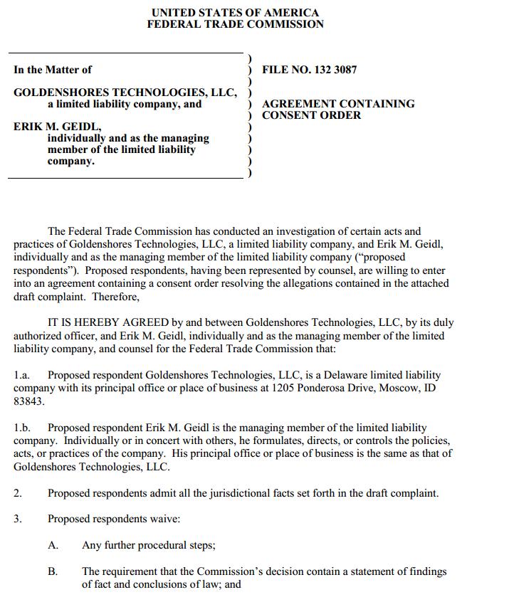 Demanda de la FTC