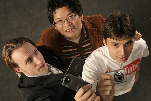 Jawed Karim, Steve Chen y Chad Hurley