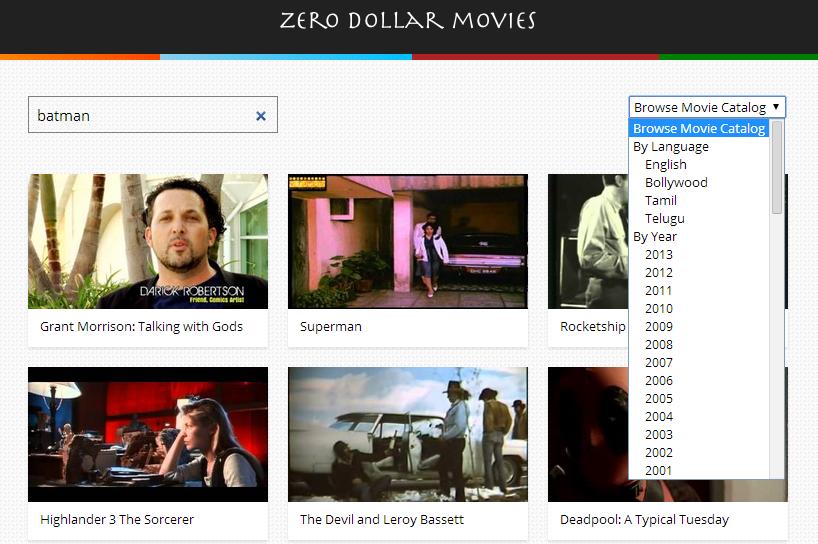 La colección de películas es enorme
