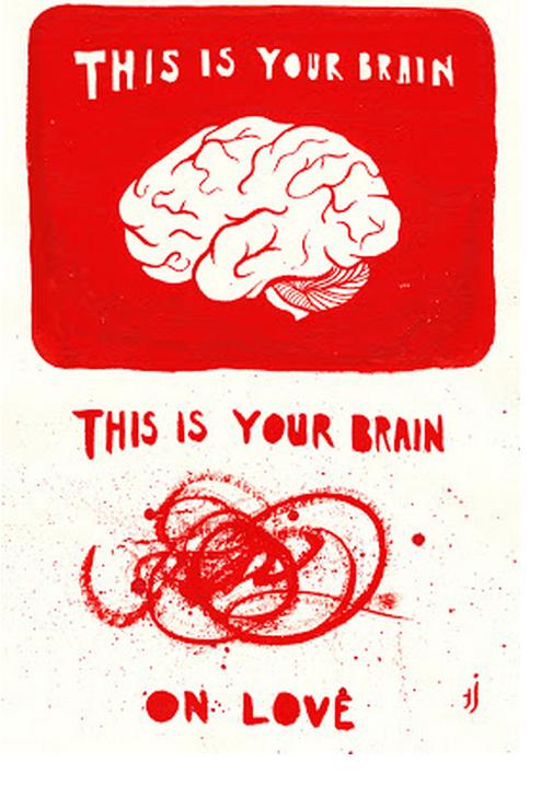 Este es tu cerebro y este es tu cerebro cuando estás enamorado