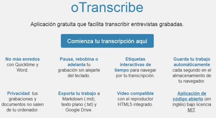 transcribir audio