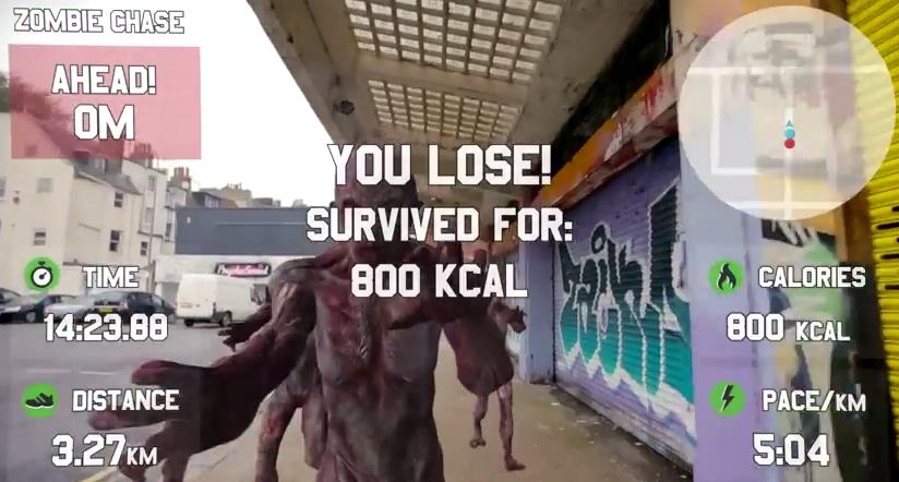 Hay un juego para correr de los zombies