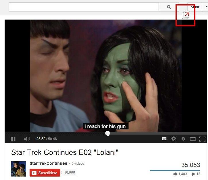 Ventanita de YouTube permite separar el reproductor del navegador.