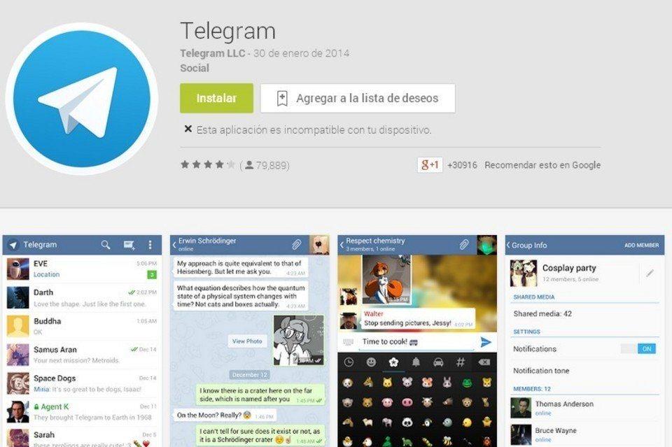 Telegram para descargar