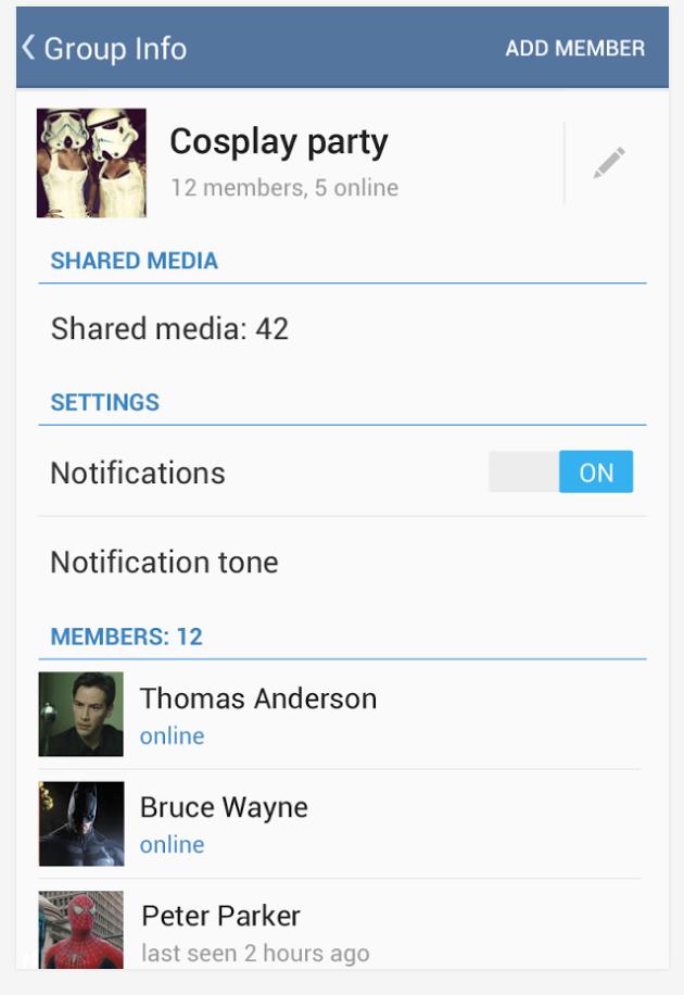 Grupos de hasta 200 personas en Telegram.