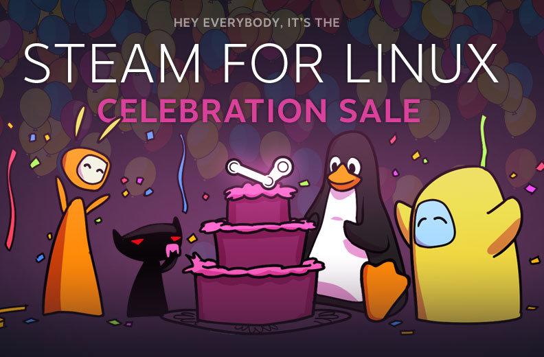 Hasta hubo promoción de juegos por el aniversario de Steam para Linux