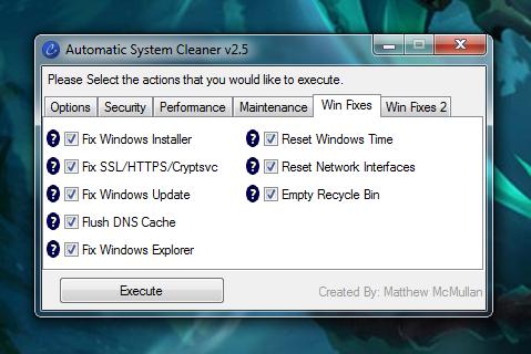 Repara procesos comunes de Windows