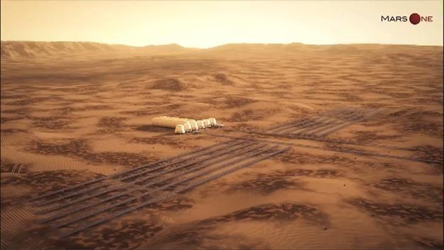 Imagina ser uno de los primeros colonos de Marte