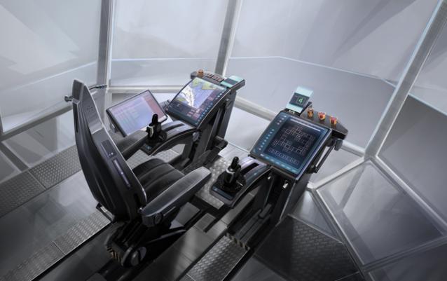 Sala de control del futuro para barcos de remolque