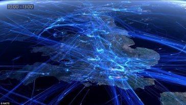 Timelapse de un día de tráfico aéreo europeo