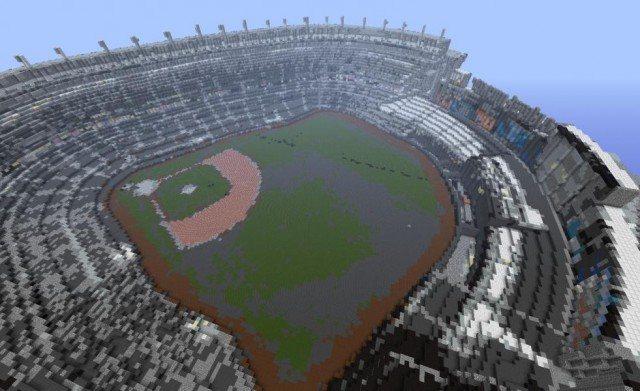 El estadio de los Yankees en Minecraft